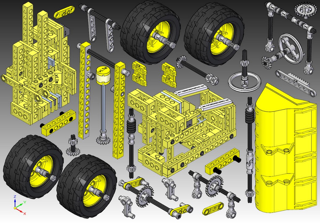Some Models and Its Parts - Virtual Lego® Technic Models